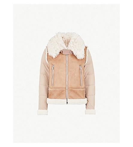 MONCLER Kilia padded shearling jacket (Brown