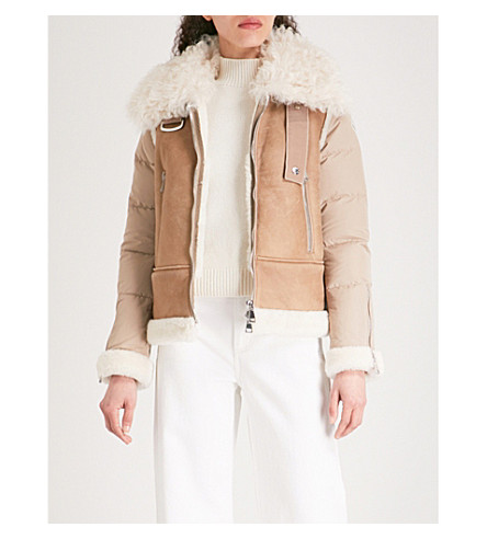 MONCLER Kilia padded shearling jacket (Brown