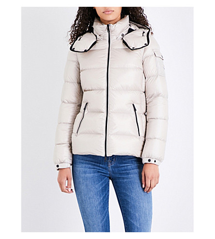 MONCLER Berre quilted shell jacket (Champagne