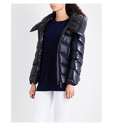 MONCLER Akebia shiny quilted-shell jacket (Navy