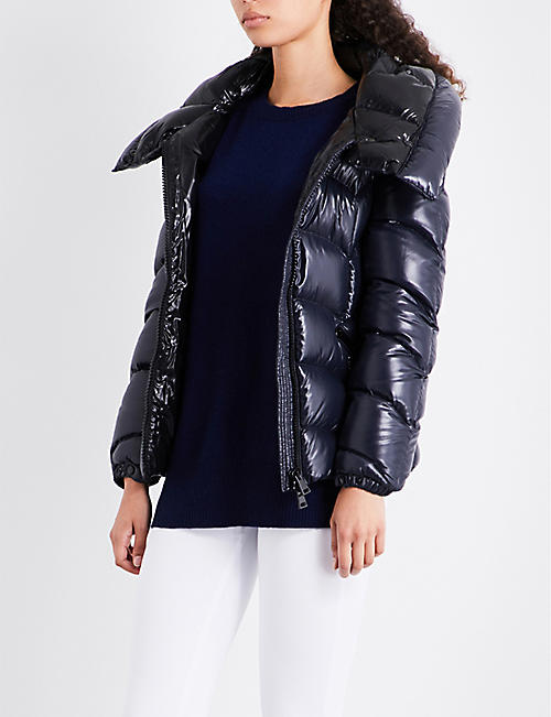 MONCLER Akebia shiny quilted-shell jacket - Womens Designer Coats - Capes, Trench Coats & MoreSelfridges