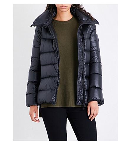 MONCLER Salix high-gloss shell down jacket (Black
