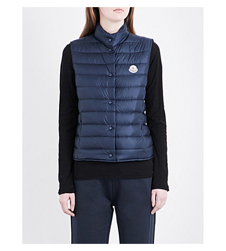 MONCLER Lianne quilted shell gilet (Blue