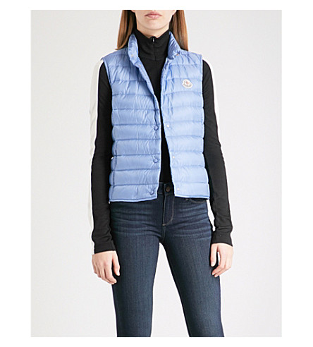 MONCLER Liane quilted shell-down gilet (Light+blue