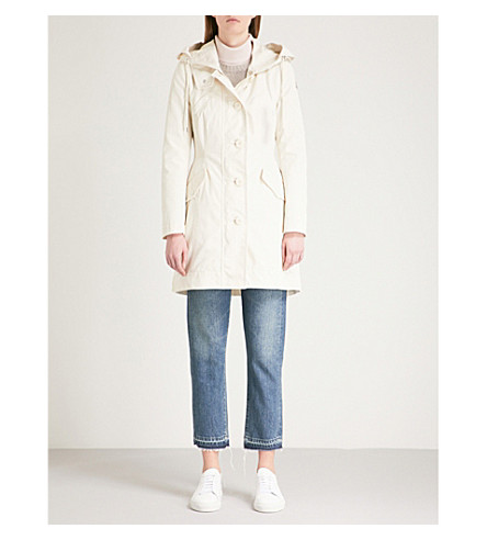 MONCLER Audrey hooded padded raincoat (Cream