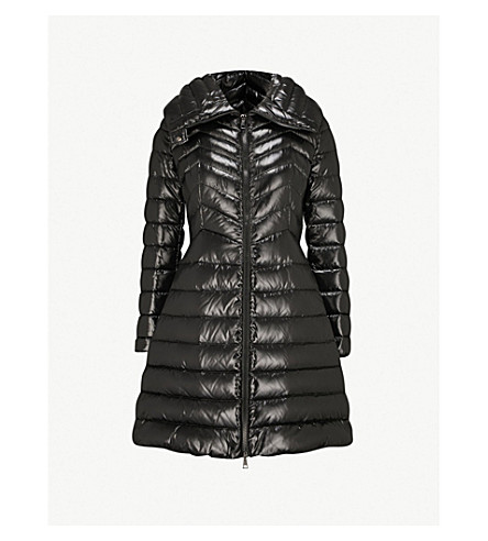 MONCLER Faucon quilted shell and down-blend coat (Black