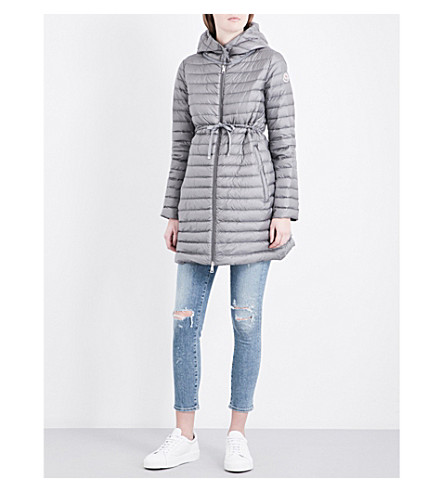 MONCLER Barbel hooded quilted shell coat (Gunmetal