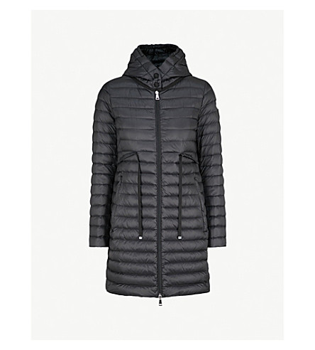MONCLER Barbel hooded quilted shell coat (Black
