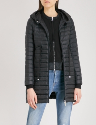 Barbel hooded quilted shell coat