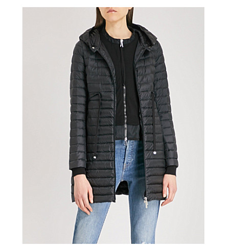 MONCLER Barbel hooded quilted shell coat (Black