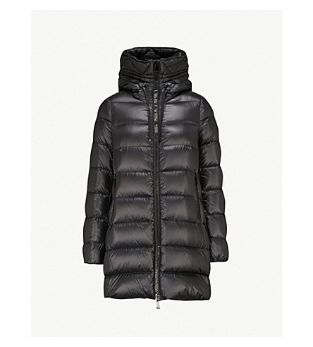 MONCLER Suyen goose down and feather-filled padded shell coat (Black