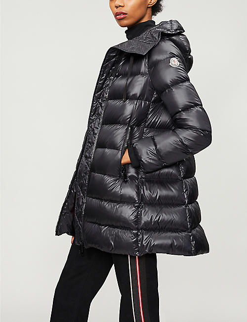 moncler black coat womens