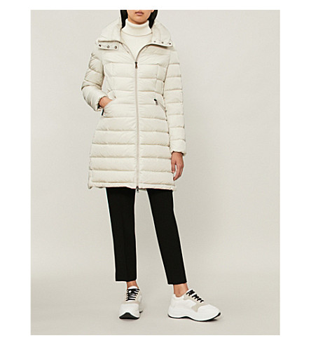 Flammette quilted shell-down coat(499310554155)