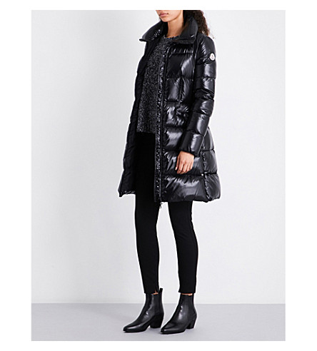 MONCLER Jasminum longline quilted down jacket (Black