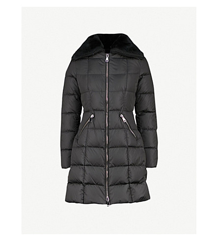 MONCLER Davidia shearling-collar shell-down jacket (Black
