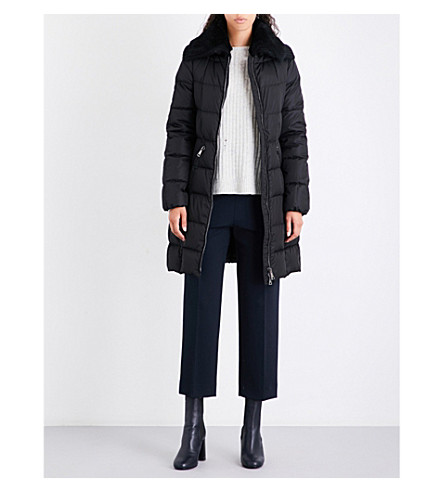 MONCLER Davidia shearling-collar shell-down jacket (Black