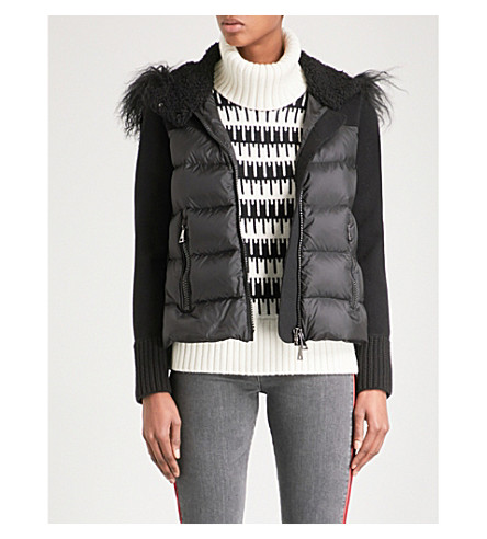 MONCLER Maglia shell-down puffer jacket (Black