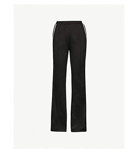 MONCLER Striped-side jersey jogging bottoms (Black