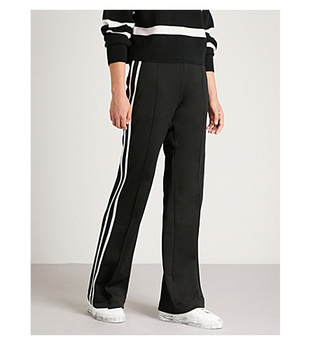 MONCLER Striped-side jersey jogging bottoms (Black