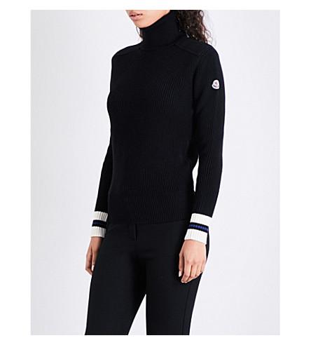 MONCLER Turtleneck wool jumper (Black