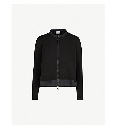 MONCLER Zipped knitted top (Black