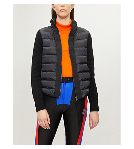 Knit-panel padded shell-down jacket(948750098124)