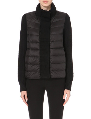 MONCLER Cardigan quilted wool jacket