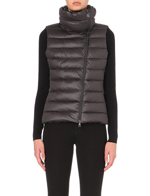 MONCLER Ternay asymmetric quilted gilet
