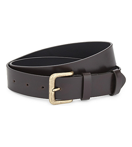 DRIES VAN NOTEN Leather belt (Dbrown