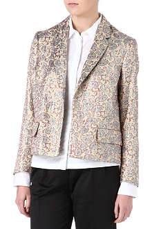 DRIES VAN NOTEN Baroque metallic boxy jacket