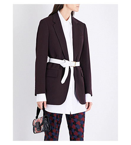 DRIES VAN NOTEN Bianco oversized wool blazer (Auber