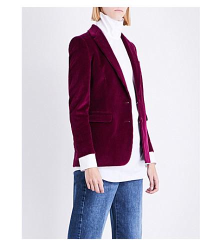 DRIES VAN NOTEN Blest velvet corduroy jacket (Fuchsia
