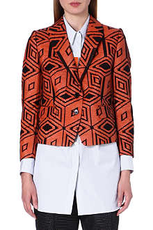 DRIES VAN NOTEN Brocky diamond jacquard jacket