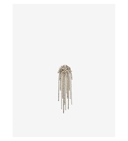 DRIES VAN NOTEN Crystal-embellished brooch (White