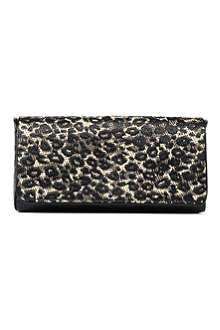 DRIES VAN NOTEN Leopard-print clutch bag