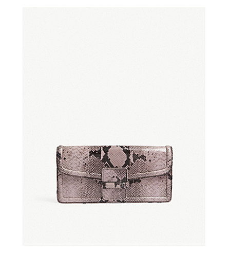 DRIES VAN NOTEN Dvn p 202 bag cltch snake (Lilac