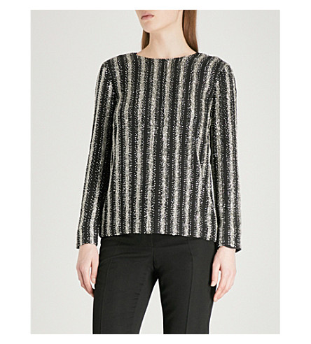 DRIES VAN NOTEN Caius silk top (Black