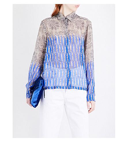 DRIES VAN NOTEN Cakung silk-chiffon shirt (Des+c