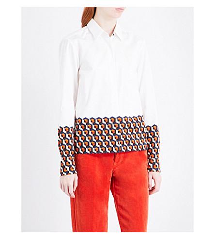 DRIES VAN NOTEN Cakung cotton-poplin shirt (Des+b