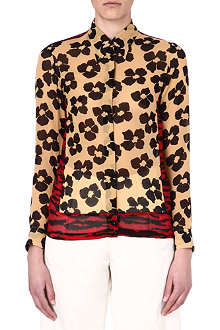 DRIES VAN NOTEN Calm mixed-print silk shirt