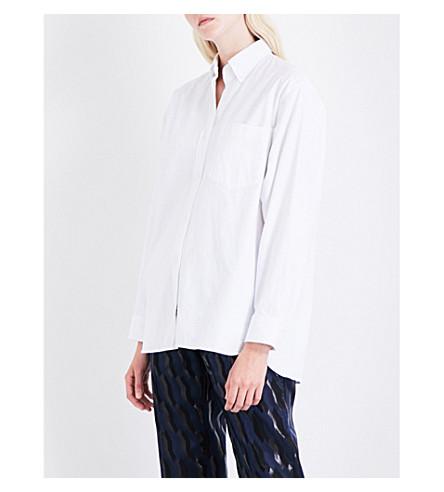 DRIES VAN NOTEN Calvin Oxford cotton-twill shirt (White