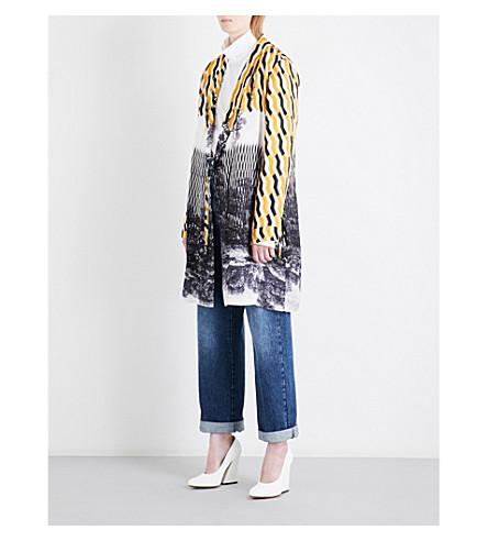 DRIES VAN NOTEN Geo-print satin kimono (Des+c