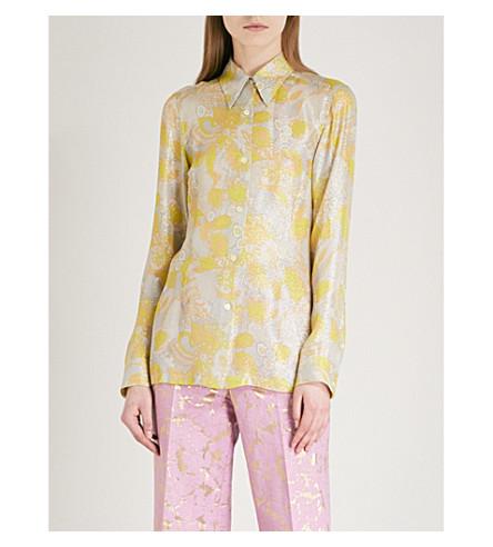 DRIES VAN NOTEN Capio jacquard shirt (Yellow