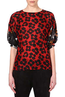 DRIES VAN NOTEN Silk floral top