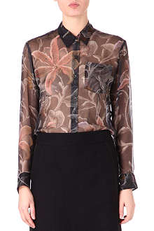 DRIES VAN NOTEN Floral chiffon shirt