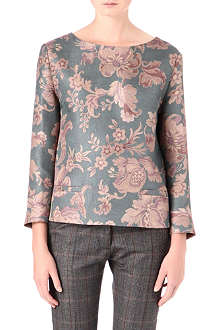 DRIES VAN NOTEN Carmen brocade top