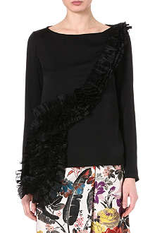 DRIES VAN NOTEN Ruffled crepe top