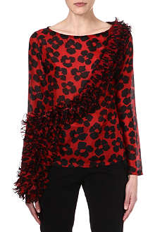 DRIES VAN NOTEN Abstract poppy print top