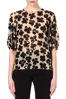 DRIES VAN NOTEN Floral embellished top