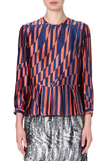DRIES VAN NOTEN Caton silk top